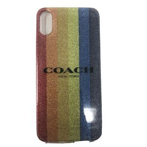 Coach Glitter Rainbow cell phone case  iPhone X